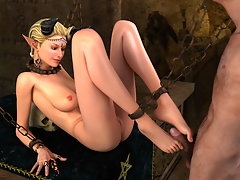 picture #3 ::: Cute Elven girls in cages for horny monsters to fuck