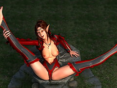 picture #1 ::: Lewd 3D devil girl posing in seductive manner