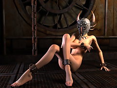picture #3 ::: Lewd 3D devil girl posing in seductive manner