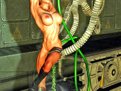 picture #11 ::: Pretty babes raped by creatures with tentacles