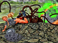 picture #2 ::: Pretty babes raped by creatures with tentacles