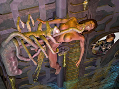 picture #10 ::: Pretty babes raped by creatures with tentacles