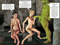 picture #1 ::: Cute babes mouthfucked by a horny troll