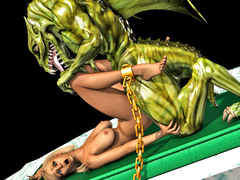 picture #2 ::: Chained slave girl forced into sex with a dragon