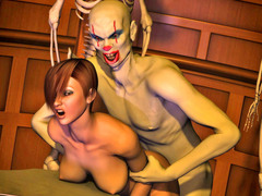 picture #2 ::: Horny demons enjoy fucking gorgeous girls