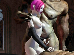 picture #5 ::: Kinky 3d monster xxx with a double handjob