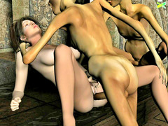 picture #6 ::: Ogre sex with amazing red hair busty slut!
