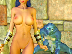 picture #7 ::: Sex loving dark elf banged by hideous creatures