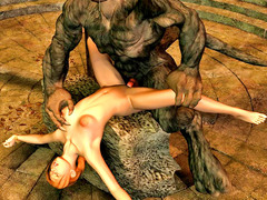 picture #6 ::: Hot blonde captured and double teamed by werewolves