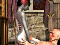 picture #3 ::: Kinky alien beholder fucks and creampies a hottie