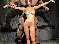 picture #2 ::: Forced sex with sexy slave girls and huge monsters