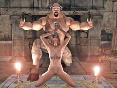 picture #4 ::: Forced sex with sexy slave girls and huge monsters