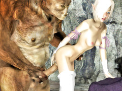 picture #4 ::: Ripped minotaur fucks a chained elf hottie