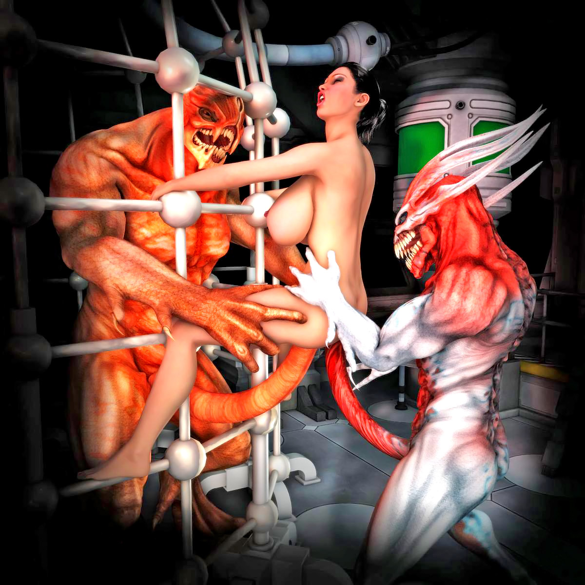 3d Monsters Xxx The Best Threesome Sex Monsters