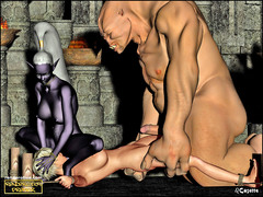 picture #3 ::: Dark elf queen playing with her new sex slave