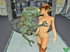 picture #1 ::: Naked fantasy babes rides giant dicks