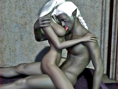picture #5 ::: Cute elf girl forced into threesome with vampires