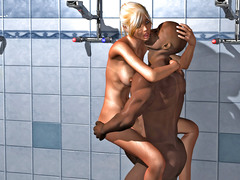 picture #4 ::: Kinky monsters taking turns on slave girls