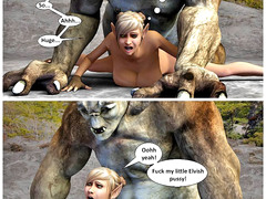 picture #3 ::: Hot blonde bitch loves getting drilled by a troll