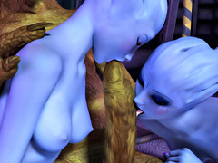 picture #4 ::: Horny little goblins fuck a hottie twice their size