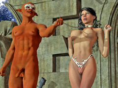 picture #4 ::: Kinky goblin tribe takes turns on a hot prisoner