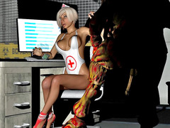 picture #1 ::: Monster sex 3d with sexy doctor and huge alien fuck