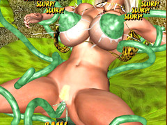 picture #5 ::: Kinky 3d tentacle porn with a hot barbarian girl