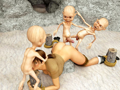 picture #2 ::: Ripped troll brutally fucks a petite elf
