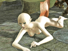 picture #4 ::: Ripped troll brutally fucks a petite elf