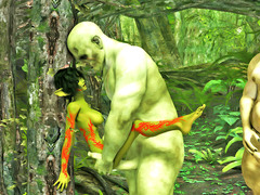 picture #5 ::: Ripped troll brutally fucks a petite elf
