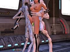 picture #7 ::: These busty alien babes love flaunting their racks