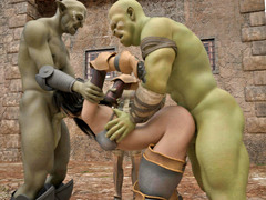 picture #2 ::: Horny ogres decide to rape a lovely girl