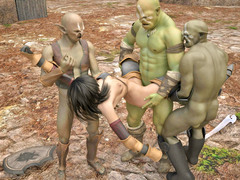 picture #5 ::: Horny ogres decide to rape a lovely girl