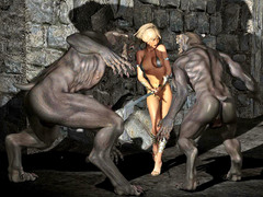 picture #1 ::: 3d monster threesome with werewolves