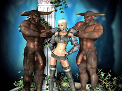 picture #4 ::: Cute girl forced into a threesome with demons