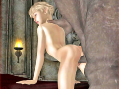 picture #1 ::: Horny girl nailed and creampied by a demon