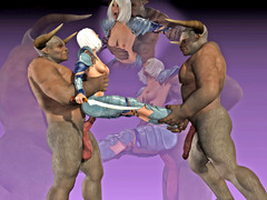 picture #2 ::: Sexy babes fucked and creamed by demons