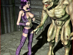 picture #6 ::: Horny girl nailed and creampied by a demon