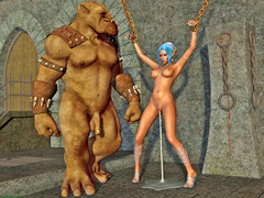 picture #5 ::: Evil babes fucks with ogres and monsters!