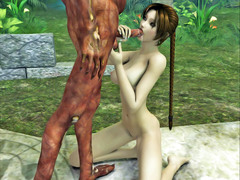 picture #3 ::: Vicious demon stuffs a hottie with his fat cock