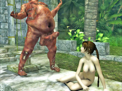 picture #4 ::: Vicious demon stuffs a hottie with his fat cock
