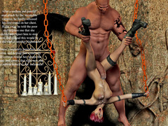 picture #5 ::: Horny giant fucks a chained hot girl
