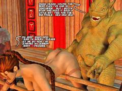 picture #1 ::: 3d minotaur sex with wet blonde