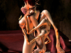 picture #2 ::: Monster fuck porn with wild double penetration of sexy elves