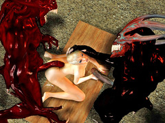 picture #3 ::: Monster fuck porn with wild double penetration of sexy elves