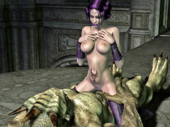 picture #3 ::: Hot blonde ends up a sex slave for winged demon