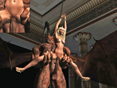 picture #5 ::: Hot blonde ends up a sex slave for winged demon