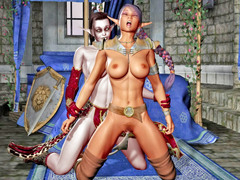 picture #2 ::: Insatiable elven princes gangbanged and creamed