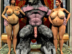 picture #3 ::: Sexy babes turned into breeding machines for monsters
