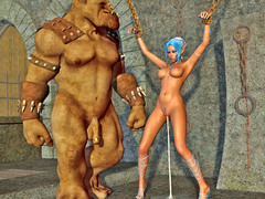 picture #2 ::: Horny orc humiliates and tortures a hot elf